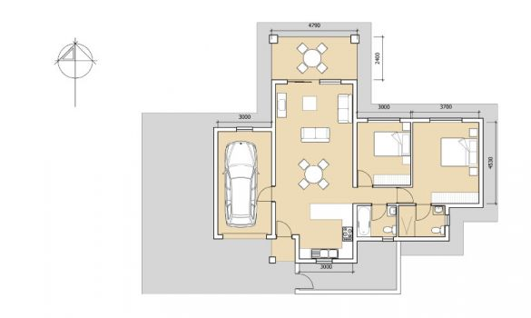 Type 2E Floor plan